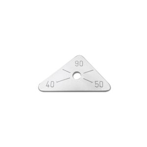 triangular positioning plate 90 degree & 50 degree & 40 degree
